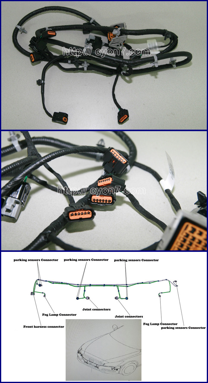 img2 fog lamp wiring harness for hyundai, kia vehicle part 24 Fog Light Wiring Diagram at bakdesigns.co