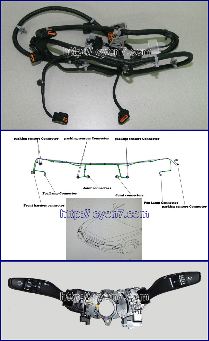 Fog Light Lamp Installing Parts  Wiring Harness Kit For