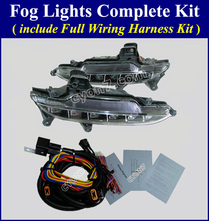 Hyundai genesis sedan fog light lamp complete kit