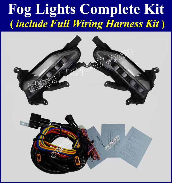 Fog light lamp complete kit wiring harness for