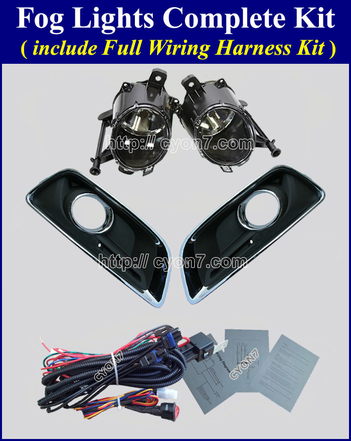 complete 2013~2015 chevy malibu fog light lamp complete kit,full wiring  at nearapp.co
