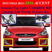 2011 2013 hyundai accent fog light lamp complete kit. Black Bedroom Furniture Sets. Home Design Ideas