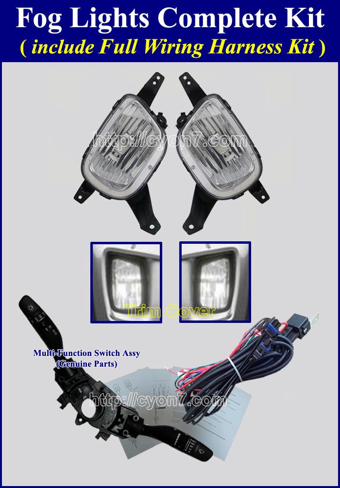 fog lamp wiring harness for hyundai, kia vehicle 2015 kia sedona fog light wiring harness kit