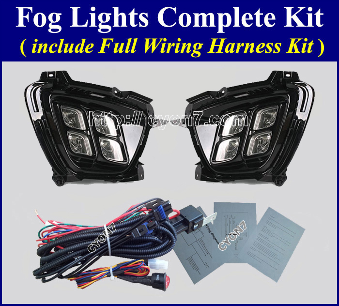 complete 2015~2016 kia sorento led fog light lamp complete kit,wiring wiring harness kit for fog lights at soozxer.org
