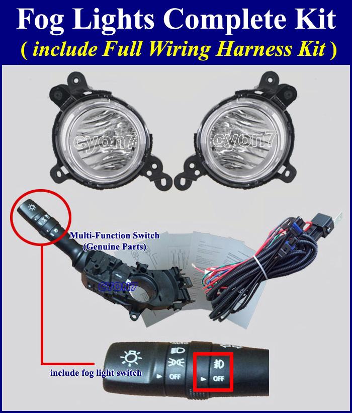 2014 2016 Kia Soul Fog Light Lamp Complete Kit Wiring
