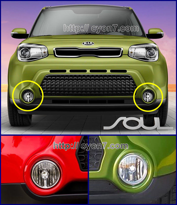 2014~2016 kia soul fog light lamp complete kit full wiring harness this wiring harness kit is completely finished kit