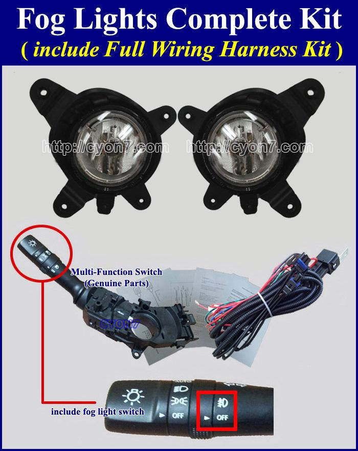 complete fog lamp wiring harness for hyundai, kia vehicle,Lamp Kit Wiring Diagram