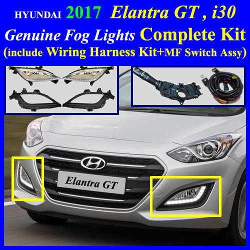 Hyundai elantra gt fog light lamp complete kit wiring