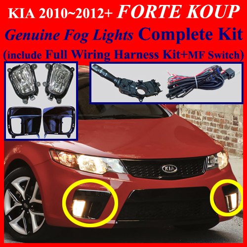 Fog Light Lamp Complete Kit Wiring Harness For 2012  Kia