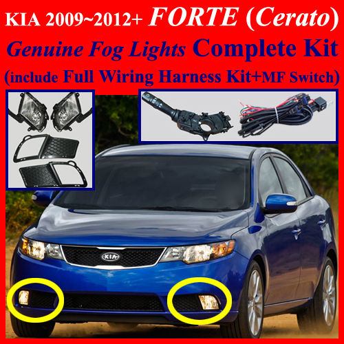 Fog Light Lamp Complete Kit Wiring Harness For 2009
