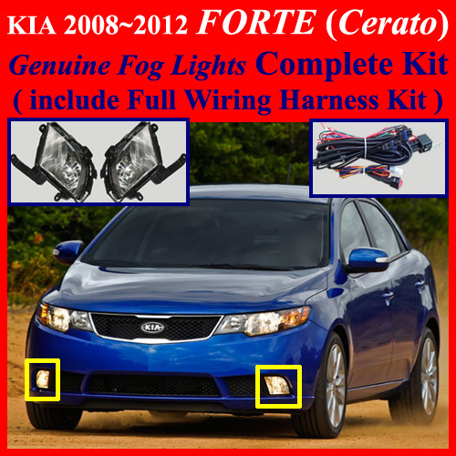 2008 2012 kia forte cerato sedan fog light complete kit. Black Bedroom Furniture Sets. Home Design Ideas