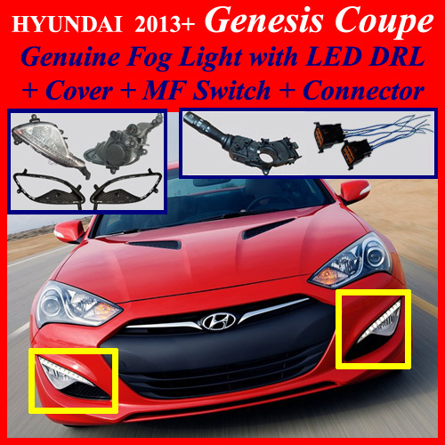 2013 2016 hyundai genesis coupe fog light lamp led drl. Black Bedroom Furniture Sets. Home Design Ideas