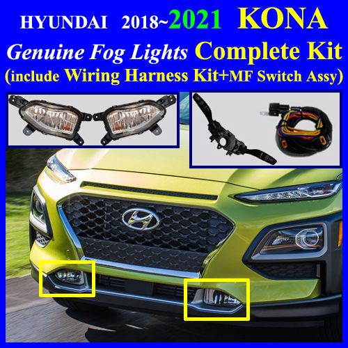 Fog Light Lamp Complete Kit   Wiring Harness Kit For Hyundai Kia Vehicle