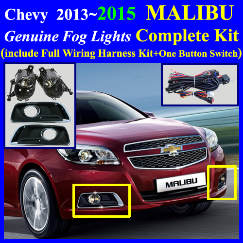 malibu2015_wire 2013~2015 chevy malibu fog light lamp complete kit,full wiring  at crackthecode.co