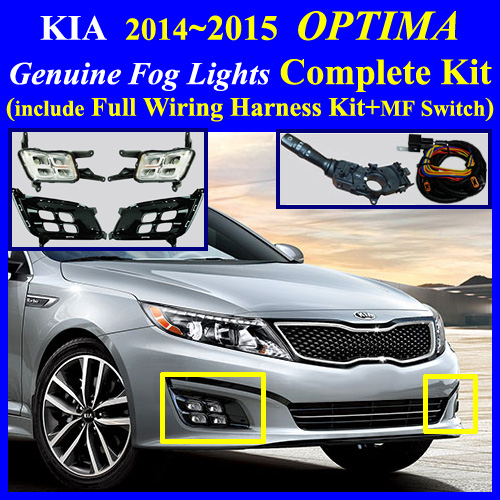 20142015 KIA Optima LED Fog Light Lamp Complete KitWiring – Kia Optima Wiring Harnes