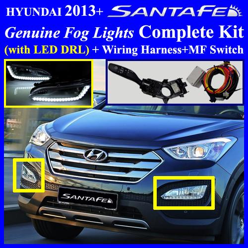 2013  Hyundai Santa Fe Sport Fog Light Lamp Complete Kit
