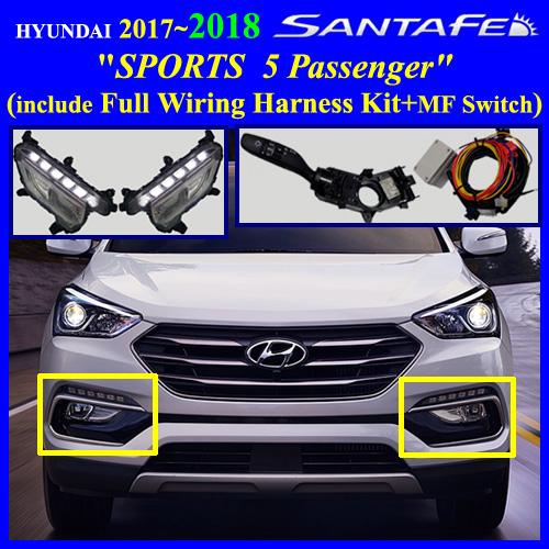 Fog Light Lamp Complete Kit   Wiring Harness Kit For Hyundai Kia Vehicle   Fog Light Lamp
