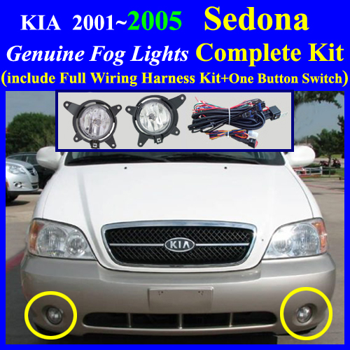 [SCHEMATICS_48IU]  2001~2005 KIA Sedona Fog Light Lamp complete kit,Wiring Harness+One Button  Switch | 2015 Kia Sedona Fog Light Wiring Harness Kit |  | Fog Lamp Complete Kit Wiring Harness Kit for HYUNDAI, KIA Vehicle, cyon7.com