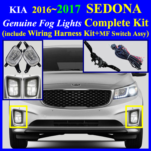 [SCHEMATICS_48ZD]  2016~2017 KIA SEDONA L, LX, EX, SX Fog Light Complete Kit,Wiring Harness+MF  Switch | 2015 Kia Sedona Fog Light Wiring Harness Kit |  | Fog Lamp Complete Kit Wiring Harness Kit for HYUNDAI, KIA Vehicle, cyon7.com