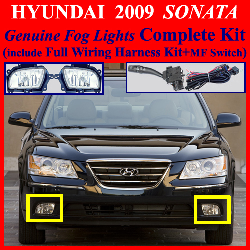 2009 hyundai sonata fog light lamp complete kit wiring