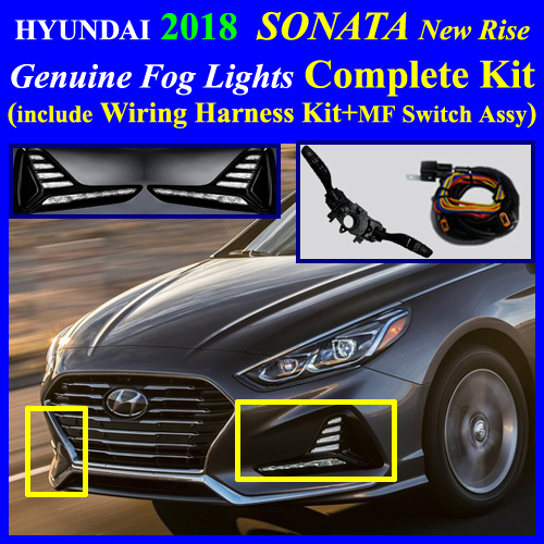 2018 hyundai sonata fog light lamp complete kit full