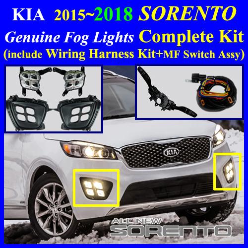 2015 2016 KIA Sorento LED Fog Light Lamp Complete Kit