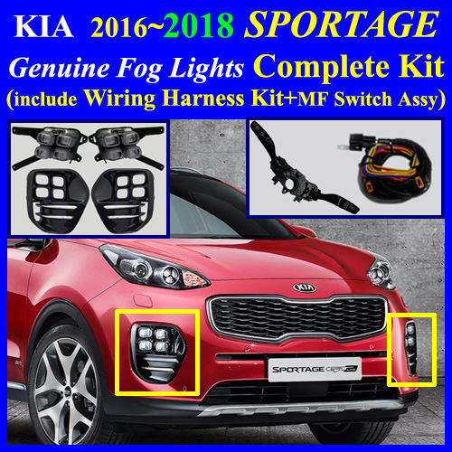 2016~2017 kia sportage led fog light lamp complete kit wiring pre installed fog light connector one pair lh rh custom made 4 user s instruction and wiring diagram