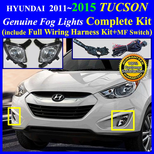 Hyundai tucson fog light lamp complete kit full